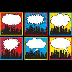 TCR5832 Superhero Cityscape Large Accents Image