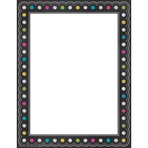 TCR5837 Chalkboard Brights Computer Paper Image