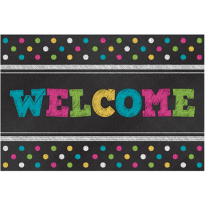 TCR5838 Chalkboard Brights Welcome Postcards Image