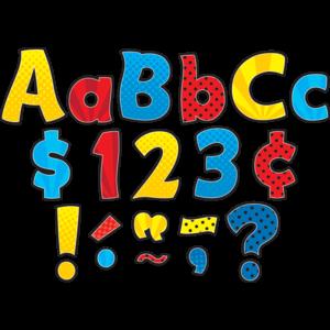 "TCR5845 Superhero Funtastic 4"" Letters Combo Pack Image"