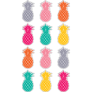TCR5862 Tropical Punch Pineapples Mini Accents Image
