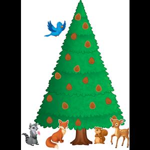 TCR5864 Woodland Pine Tree Bulletin Board Display Set Image
