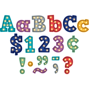 """TCR5866 Marquee Bold Block 4"""" Letters Combo Pack Image"""