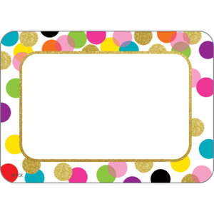 TCR5885 Confetti Name Tags/Labels Image