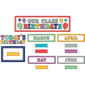 TCR5892 Marquee Our Class Birthdays Mini Bulletin Board Image