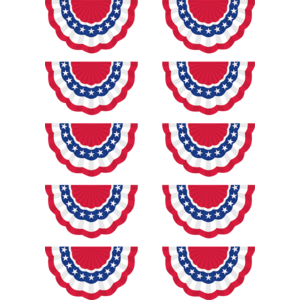 TCR5895 Patriotic Bunting Accents Image