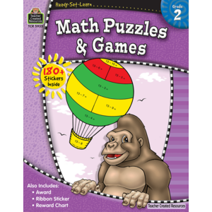 TCR5935 Ready-Set-Learn: Math Puzzles and Games Grade 2 Image