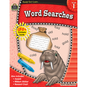 TCR5943 Ready-Set-Learn: Word Searches Grade 1 Image