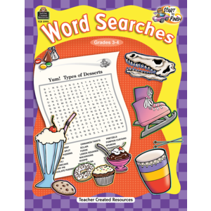 TCR5995 Start to Finish: Word Searches Grade 3-4 Image
