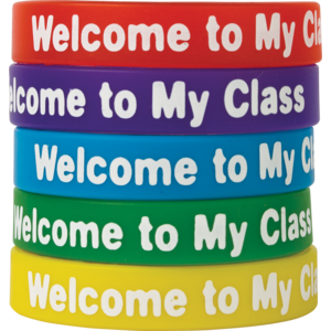 TCR6023 Welcome to My Class Wristbands 10-Pack Image