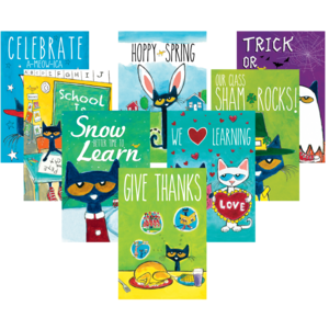 TCR60238 Pete the Cat Holiday and Seasonal Poster Set Image