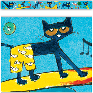 TCR60325 Pete the Cat Straight Border Trim Image