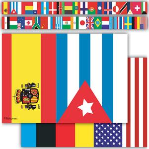 TCR60595 International Flags Straight Border Trim Image