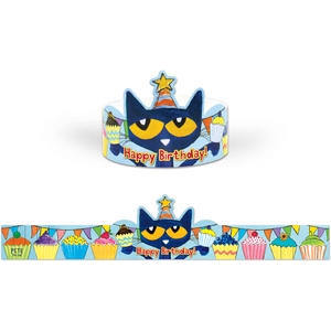 TCR62000 Pete the Cat Happy Birthday Crowns Image