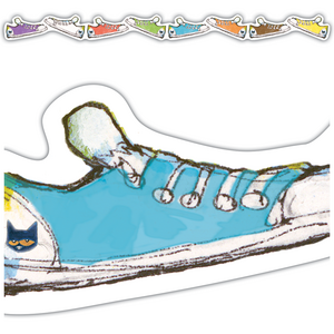 TCR62004 Pete the Cat Groovy Shoes Die-Cut Border Trim Image