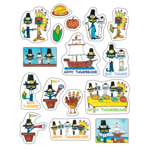 TCR62024 Pete the Cat Thanksgiving Stickers Image