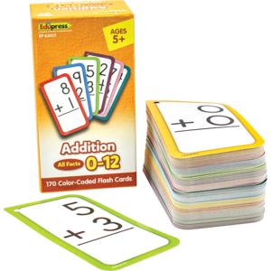 TCR62027 Addition Flash Cards - All Facts 0–12 Image