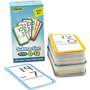 TCR62028 Subtraction Flash Cards - All Facts 0–12 Image