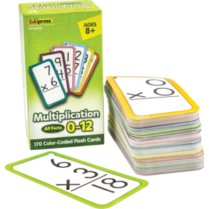 TCR62029 Multiplication Flash Cards - All Facts 0-12 Image
