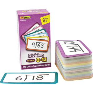 TCR62030 Division Flash Cards - All Facts 0–12 Image