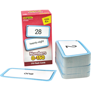 TCR62032 Numbers 0-150 Flash Cards Image