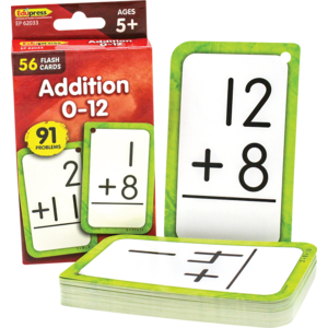 TCR62033 Addition 0-12 Flash Cards Image