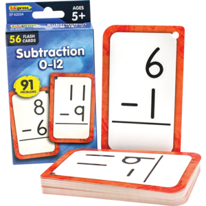 TCR62034 Subtraction 0-12 Flash Cards Image
