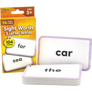 TCR62039 Sight Words Flash Cards - 3 Letter Words Image