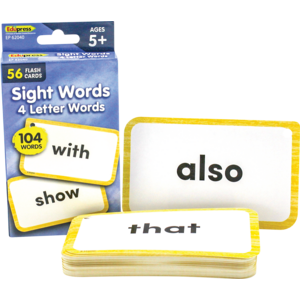 TCR62040 Sight Words Flash Cards - 4 Letter Words Image
