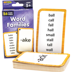 TCR62043 Word Families Flash Cards Image