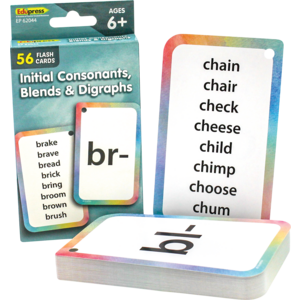 TCR62044 Initial Consonants, Blends & Digraphs Flash Cards Image