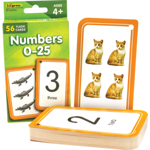 TCR62045 Numbers 0-25 Flash Cards Image