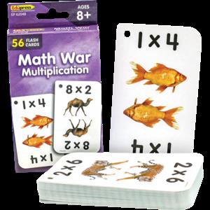 TCR62048 Math War Multiplication Flash Cards Image