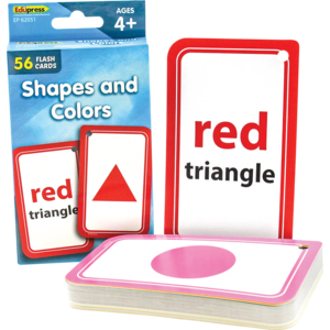 TCR62051 Shapes and Colors Flash Cards Image