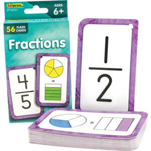 TCR62053 Fractions Flash Cards Image
