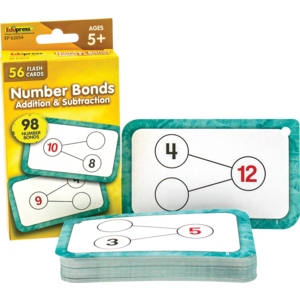 TCR62054 Number Bonds Flash Cards - Addition and Subtraction Image
