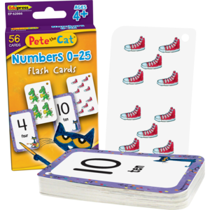 TCR62066 Pete the Cat® Numbers 0-25 Flash Cards Image