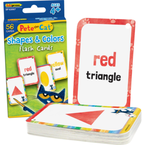 TCR62067 Pete the Cat® Shapes & Colors Flash Cards Image