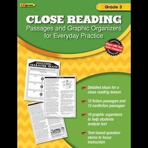 TCR62561 Close Reading Practice Book Grade 3 Image