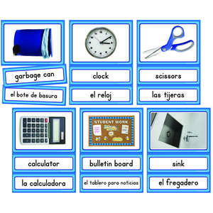 TCR63189 Spanish/English Classroom Labels Accents Image