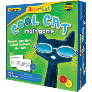 TCR63531 Pete the Cat Cool Cat Math Game Grade 1 Image