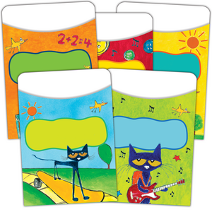 TCR63923 Pete the Cat Library Pockets - Multi-Pack Image