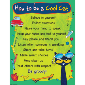 TCR63928 Pete the Cat How To Be A Cool Cat Chart Image