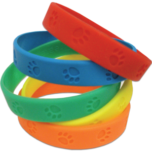 TCR6552 Paw Prints Wristbands Image