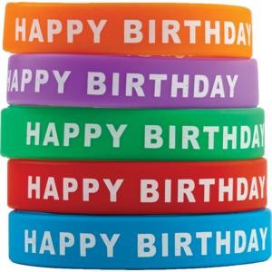 TCR6559 Happy Birthday Wristbands Image