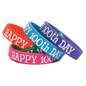TCR6568 Happy 100th Day Wristbands Image