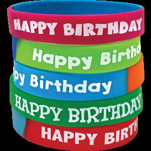 TCR6571 Fancy Happy Birthday Wristbands Image