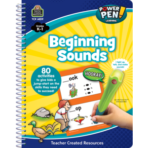 TCR6859 Power Pen Learning Book: Beginning Sounds Image