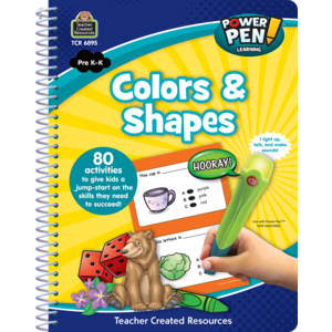 TCR6895 Power Pen Learning Book: Shapes and Colors Image