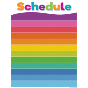 TCR7108 Colorful Schedule Write-On/Wipe-Off Chart Image